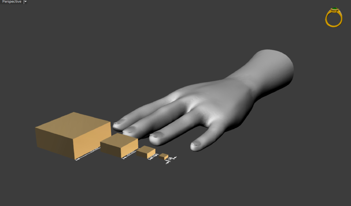 Gildform  Cube reference and hands - perspective